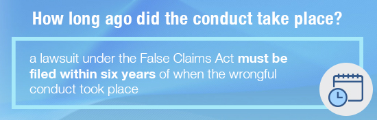 false claims act conduct timing
