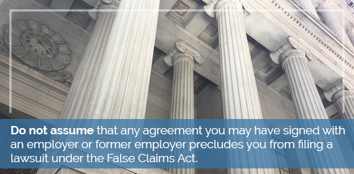 false claims act employer agreement