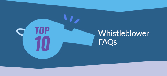 whistleblower faq banner